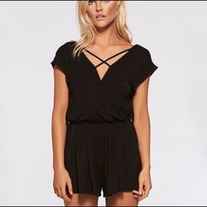 L*space west coast romper black size small